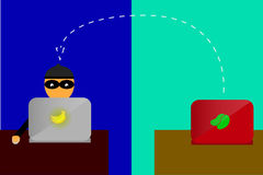 Illustration for man cyber crime Royalty Free Stock Photography