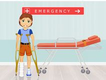 Man in the emergency room Royalty Free Stock Photography