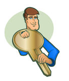 Large Key Character Icon Royalty Free Stock Image