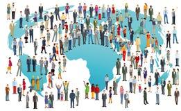 World population illustration royalty free illustration