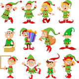 Illustration of many elfs cartoon Stock Photo