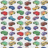 Repetitive pattern with transport cars Royalty Free Stock Images