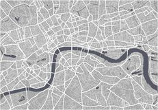 Map of the city of London, Great Britain vector illustration