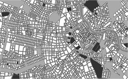 City Map of Vienna, Austria. Illustration map of the city of Vienna, Austria Stock Image