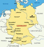 Illustration -  map of Germany - vector Stock Images