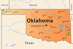 Oklahoma Map Stock Photos