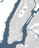 Map of the New York City, NY, USA. Illustration map of the New York City NY Manhattan, USA Stock Image