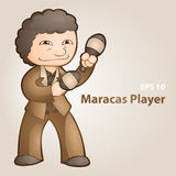 Illustration of a maracas player. Stock Photos