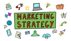 Concept of marketing strategy. Illustration of a marketing strategy concept Stock Image