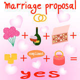 Illustration of marriage proposal Royalty Free Stock Photo