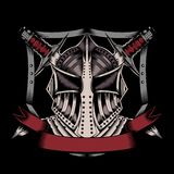 Illustration of mask with swords Royalty Free Stock Image