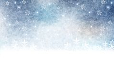 Illustration of the winter season royalty free stock images