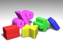 Illustration of math symbols Stock Images