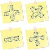 Mathematics signs sketches Stock Photos