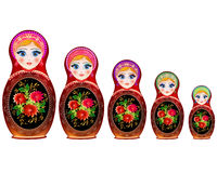 Illustration Matryoshka Russian national toy Royalty Free Stock Image