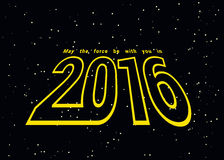 Illustration for 2016. May the force be with you in 2016 Stock Photography