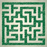 Illustration of maze Royalty Free Stock Photos