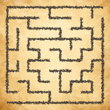 Illustration of maze Royalty Free Stock Image