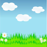 Illustration of meadow Royalty Free Stock Photography