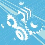 illustration mechanic vector Royaltyfria Bilder