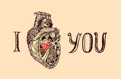 Illustration of mechanical heart Royalty Free Stock Images