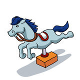 Illustration of mechanical horse Royalty Free Stock Images