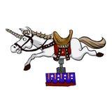 Illustration of mechanical unicorn .mechanical horse Royalty Free Stock Image