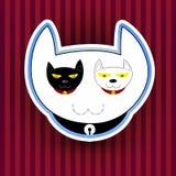Illustration med den roliga gulliga katten Arkivfoton