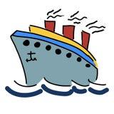 illustration med en ship Royaltyfri Foto