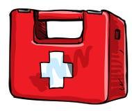 Illustration of medic kit. Isolated on white Royalty Free Stock Photography