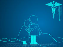 Illustration of medical and healthcare background Royalty Free Stock Images