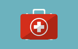 Illustration  of medicine chest. Flat modern design with shadow Stock Photo