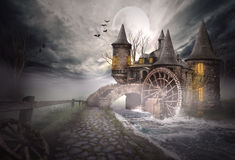 Illustration of a medieval castle Stock Images