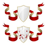 Illustration of medieval shields Stock Photography