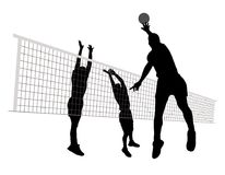 Men playing volleyball Royalty Free Stock Photo