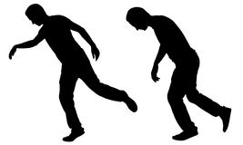 Illustration of a men stumbling Stock Photos