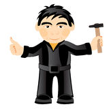 Man with gavel Stock Image