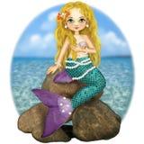 Illustration of the Mermaid fairy tale Stock Photos
