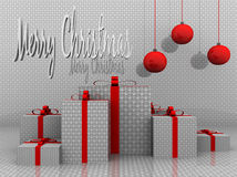 Illustration of a merry christmas background. 3d illustration of a merry christmas background stock illustration