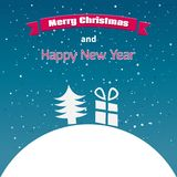 Illustration of Merry Christmas card. This is file of EPS10 format Stock Images