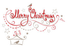 Illustration -- Merry Christmas. With decorations Stock Image