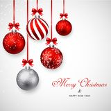 Merry christmas and Happy New year. Illustration of Merry christmas and Happy New year royalty free illustration