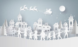 Illustration of  merry christmas and happy new year Stock Image