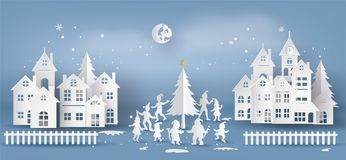 Illustration of merry Christmas and happy new year vector illustration