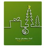 Merry Christmas and Happy New Year greeting card festive inscription with ornamental elements on bokeh vintage background, vector. Illustration of Merry stock illustration