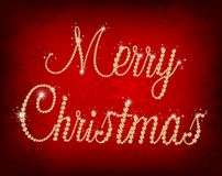 Illustration of Merry Christmas text with diamond Royalty Free Stock Images