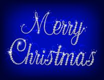 Illustration of Merry Christmas text with diamond Royalty Free Stock Photos