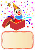 Illustration merry clown Royalty Free Stock Image