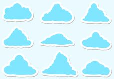 Illustration messages in the form of clouds, Icon set. On white background Royalty Free Illustration