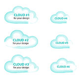 Illustration messages in the form of clouds. Stock Photos